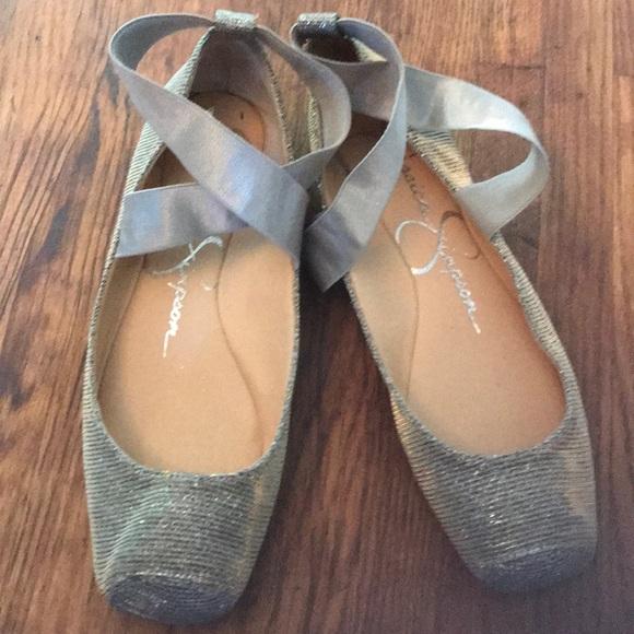 Mandalay Silver Ballet Flats